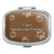 Rectangle Pill Case Trinket Gift Box I Love Heart Dogs A-C - Bouviers des Flandres