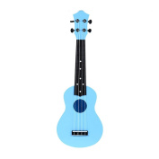 M Y Fly Young Toy Ukulele 50cm Soprano Plastic Hawaiian Guitar for Beginner Student Children Kid Gift Blue