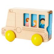 Hallmark Wooden Toy School Bus with Book