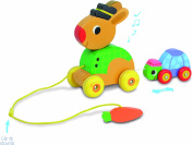 Vilac The Tortoise and the Hare Pull Along Musical Toy