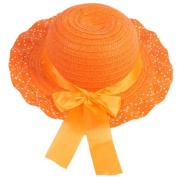 GUAngqi Child Kids Girls Baby Lace Node Brim Summer Beach Sun Straw Hat Cap