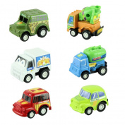 XILALU baby toy Kolylong 6PC/Set multicolor plastic mini pull back model car educational toys