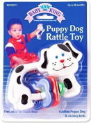 Baby King Puppy Dog Rattle Toy, White