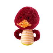 Lilliputiens Hugues Mini Rattle Fuzzy Plush Duck with Quacking Noise