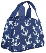 Ever Moda Navy Blue Anchors Insulated Lunch Bag 25cm by Ever Moda
