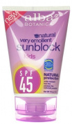 Alba Botanica SPF 45 Sunblock for Kids, 120ml -- 2 per case. by Alba Botanica