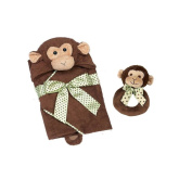 Bearington Lil Giggles Ring Rattle and Hooded Towel by Bearington Bears