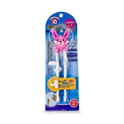 Edison Training Chopsticks for Right Handed Children Pink Rabbit by Edison