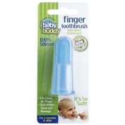 Baby Buddy Silicone Finger Toothbrush, Blue by Baby Buddy