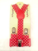 Baby Toddler Kids Children Boys Girls Red Polka Dot Suspender by Funtime Accessories