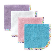 Hudson Baby Woven Washcloth, Purple by Hudson Baby