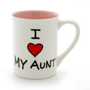 Our Name Is Mud 470ml 'I Heart My Aunt' Mug by Lorrie Veasey, 11cm by Our Name is Mud