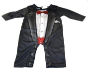 Baby Boys' Tuxedo Romper by Faux Real
