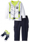 Petit Lem Baby Boys' Space Boy Top Pant and Sock Set by Petit Lem