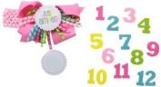 Mud Pie Baby-Girls Newborn Monthly Milestone Headband by Mud Pie