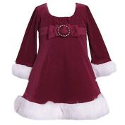 Bonnie Jean, Little Girls, Red Velvet Christmas Dress by Bonnie Jean