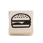Fluf Organic Cotton Single Snack Pack Lunch Bag, Burger by Fluf