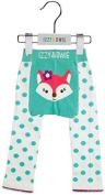 Izzy and Owie Baby Leggings - Aqua and White Fox by Izzy and Owie