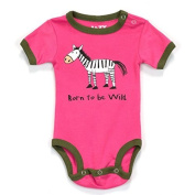"Lazy One Infant Girls Pink Creeper ""Born to Be Wild"" by Lazy One"