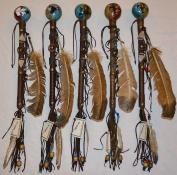 Navajo Dance Rattle - Round Design