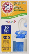 Munchkin Arm & Hammer Nappy Pail Refill Bags, 10 Count, Pack of 3 by Munchkin