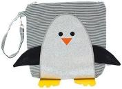 Nikiani My First Buddies Snack Bag - Chilli Silver Glitter Penguin by Nikiani Inc