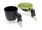 Burley Snack Bowl and Cup Holder, Black by Burley