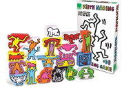 Vilac Set of 18 Keith Haring Stacking Figures by Vilac