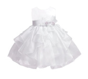 Baby-Girls KID Collection Layered Organza Ruffle Skirt Pageant Party Dress by Kid Collection