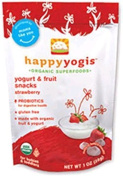 Organic Yoghurt Melts Strawberry 30mls (8 Count) by HAPPYBABY