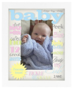 Malden Baby Life's Expressions Picture Frame, White (Discontinued by Manufacturer) by Malden