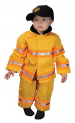 Get Real Gear Yellow Jr. Firefighter Suit with hat, Size 18M by Get Real Gear