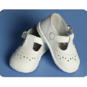 Angels Garment Baby Girls Size 1-7 White Classic Christening Shoes by Angels Garment