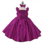 Rain Kids Purple Satin Jewel Ruffle Pageant Dress Baby Girls 6M-24M by The Rain Kids