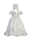 Taffeta Christening Baptism Dress with Lace Accent by Swea Pea & Lilli