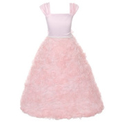 Kids Dream Pink Rosette Special Occasion Dress Girl 6-14 by Kids Dream