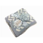 BarefootDreams CozyChic Mini Chevron Blanket by Barefoot Dreams