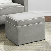 Baby Relax The Abby Nursery Storage Ottoman for Baby Gliders, Grey by Baby Relax