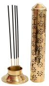 Odishabazaar Safety Agarbatti Stand Brass Gold 26 x 7.6 x 5.2 cm