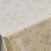 Gold Snowflake Table Linen set for 6