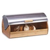 Zeller 25344 Bread Bin 39 x 25.5 x 18.5 cm Bamboo / Stainless Steel