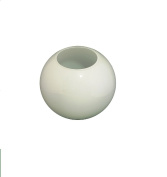 "12.5cm dia. (5"") White Glass Replacement Spherical Globe Lampshades with no collar. Hole"