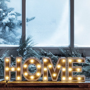 Battery Operated LED Wooden Home Sign Light by Lights4fun