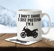 I Don't Snore, I Just Pretend I'm a Motorbike - Mug and Coaster By Inky Penguin