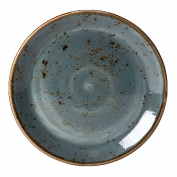 Steelite Craft Coupe Plate Blue 20.25cm - Set of 6 - Vitrified Rustic Dinner Plate