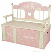 Levels Of Discovery Rock-A-My-Baby Bench Seat with Storage Pink/Cream by Levels of Discovery