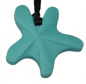 chubuddy Chewable Star Fish Pendant chewie, non-toxic material-aqua