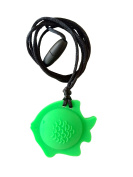 chubuddy Chewable Fish Pendant chewie, non-toxic material-fern