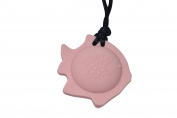 chubuddy Chewable Fish Pendant chewie, non-toxic material-pink