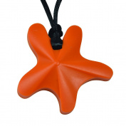 chubuddy Chewable Star Fish Pendant chewie, non-toxic material-orange